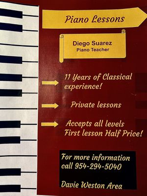 PIANO LESSONS FOR ALL AGES AND INTERESTS for Sale in Davie, FL