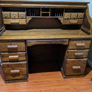Amish Made Antique Roll Top Desk - The Barn Furniture for Sale in Los Angeles, CA