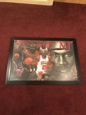 Michael Jordan Painted & Framed Portrait for Sale in Chicago, IL