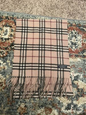 Authentic Burberry plaid scarf for Sale in Saginaw, MI