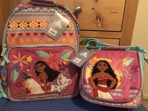 New Girls Disney Moana Kids Backpack and Lunch Box / Bag for Sale in Gardena, CA