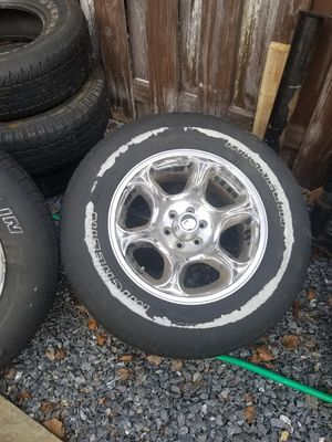 Chrome Rims with good tires for Sale in Frederick, MD