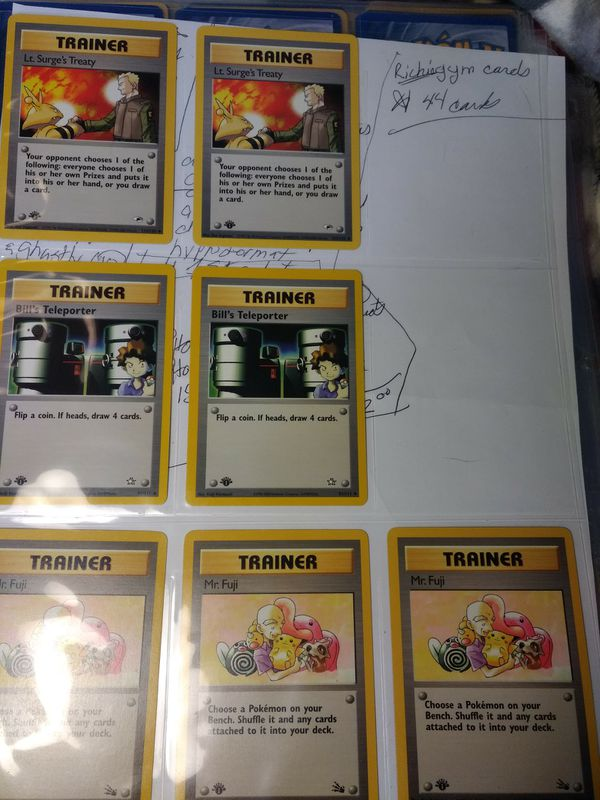 POKEMON ALL STAR CARDS 1ST EDITION