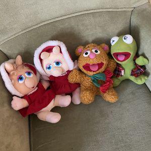 Sesame Street Set of Four Muppet Dolls for Sale in Suffolk, VA