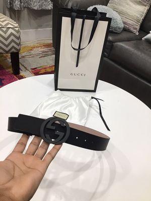 Black Gucci belt Sz 32-36 for Sale in Brooklyn, NY