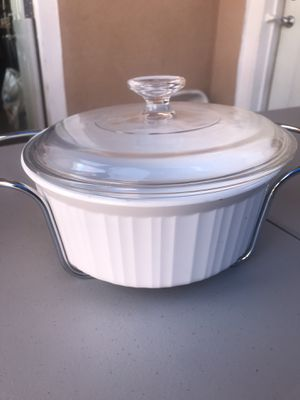 Pyrex serving pot with lid and stand for Sale in Los Angeles, CA