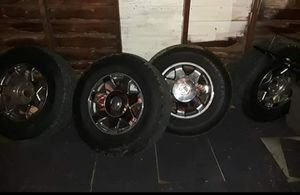 Escalade Rims and Tires 250$ 6lug 18inch for Sale in Detroit, MI