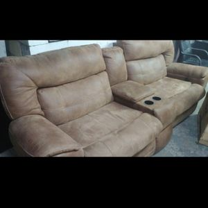 Reclining Soft Leather Couch And Loveseat for Sale in Masontown, PA