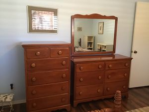 Dresser- chest of drawers- and mirror for Sale in Litchfield Park, AZ