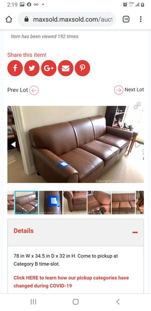 Full grain leather Sofa and 2 reclining chairs set for Sale in Germantown, MD