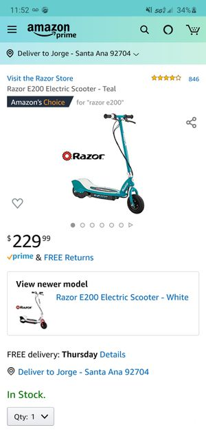 RAZOR ELECTRIC SCOOTER (E100 & E200) for Sale in Costa Mesa, CA