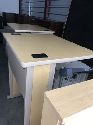 4 student/ computer standing desks in excellent condition 48x30 price per one table for Sale in Raleigh, NC