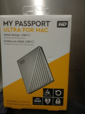 new wd 4tb my passport ultra for mac for Sale in Lake Grove, NY