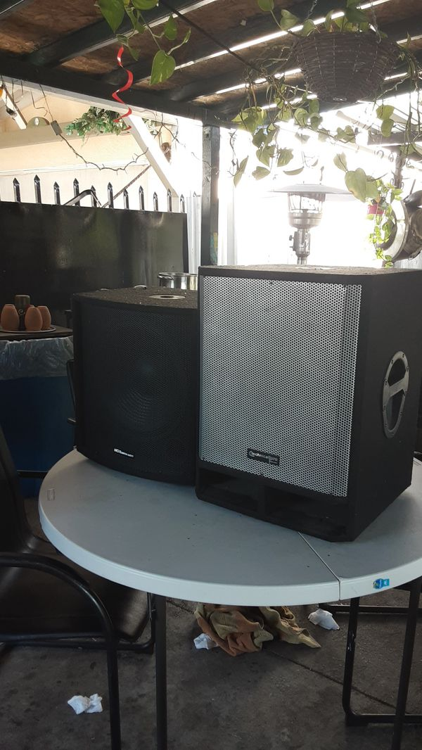 Mcmcustom audio & technical pro subwoofer size 15