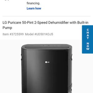 Lg Dehumidifier for Sale in Scottsburg, IN