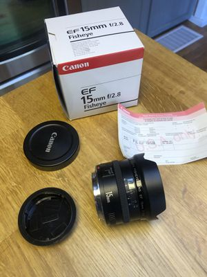 Canon 15mm f2.8 fisheye lens for Sale in Arvada, CO