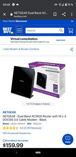 Netgear AC1600 router modem for Sale in Manassas, VA