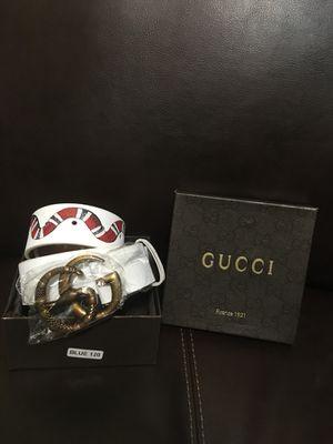 White/Gucci belt for Sale in Wichita, KS