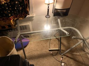 Glass desk for Sale in Danville, PA