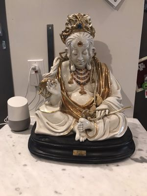 """Rare large Capodimonte Buddha statue signed by Cortes 18"""" highly collectible made in Italy for Sale in Richardson, TX"""