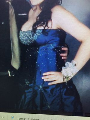 Prom Dress, Darling, Navy blue, ruffled, petticoat type, size 18 for Sale in North Wales, PA