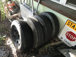 Jeep Wrangler Wheels and Tires 5x5 for Sale in Lakeland, FL