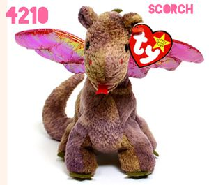 Original authentic beanie Baby scorch the dragon 4210 for Sale in Fenton, MO