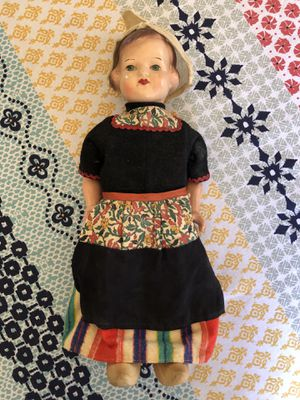 Antique Wood Dutch-Style Walking Doll for Sale in Jamul, CA