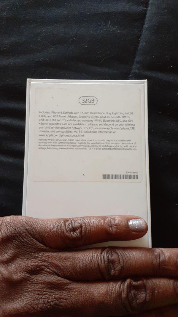 I phone 6 32 Gb includes box