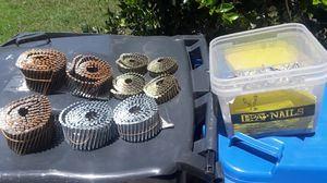 Assorted roofing or nailgun Nails . Metal cap or simplex nails for Sale in Lutz, FL