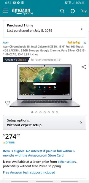 Acer Chrome book for Sale in Seattle, WA