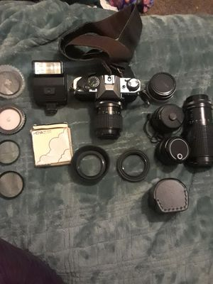 Canon AE-1program with lenses for Sale in Modesto, CA
