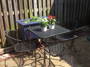 Patio Furniture: table and three chairs for Sale in Alexandria, VA