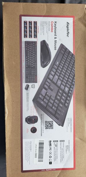 EagleTec wireless keyboard and mouse for Sale in Woodruff, SC