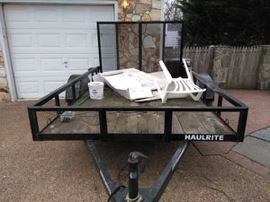 TRAILER WITH HITCH **GREAT CONDITION** $1200/BEST OFFER for Sale in Herndon, VA