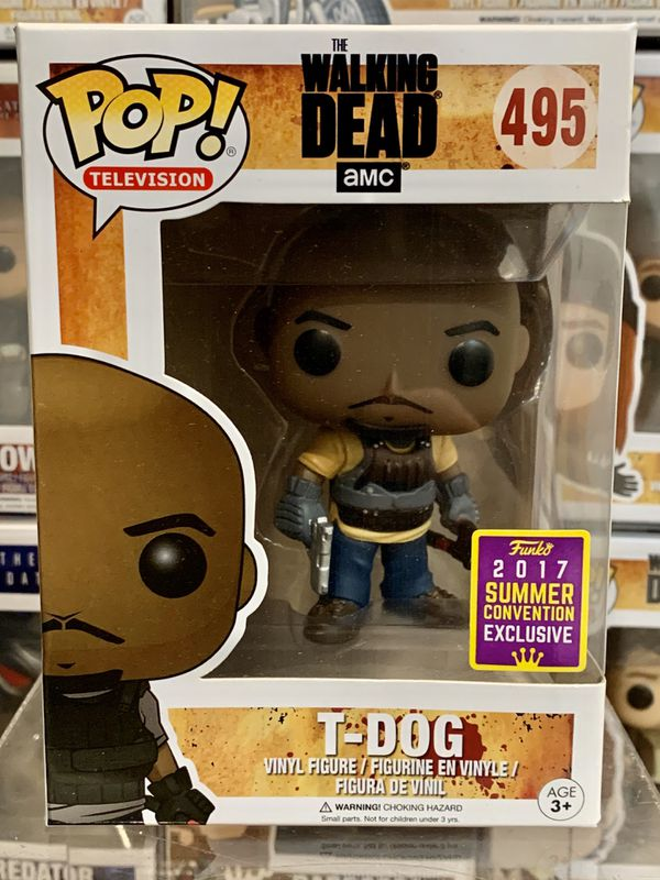 Funko Pop Television The Walking Dead T-Dog 495 SUMMER CONVENTION 2017 Exclusive - VAULTED
