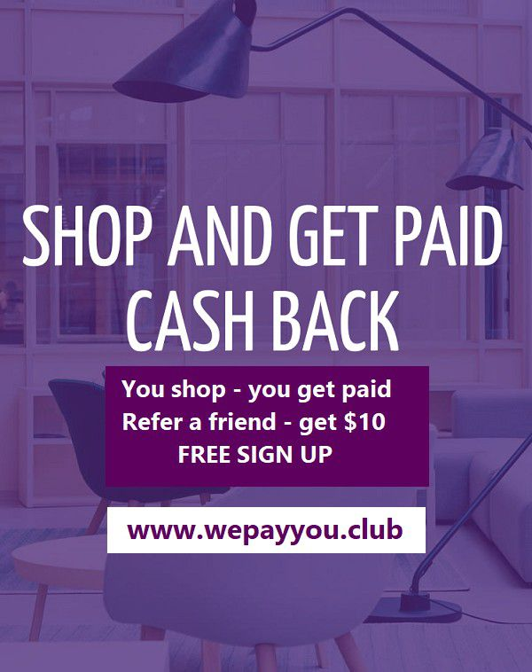 Free sign up - Get Paid to Shop