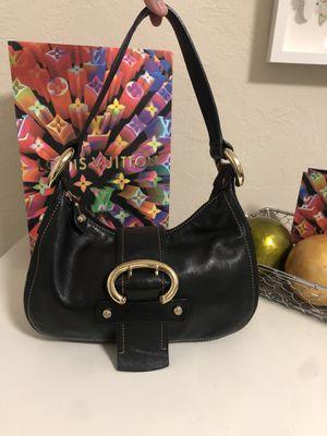 Francesco Biasa 100% authentic 100% leather handbag purse paid $400 black leather for Sale in Fremont, CA
