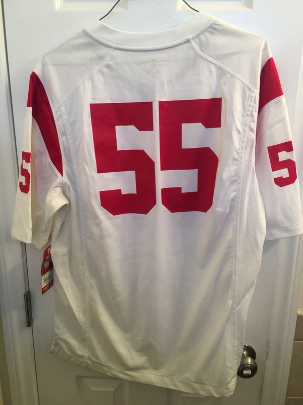 newest 17b78 be1f1 USC Trojans away jersey junior seau chargers mens large for Sale in San  Bernardino, CA - OfferUp