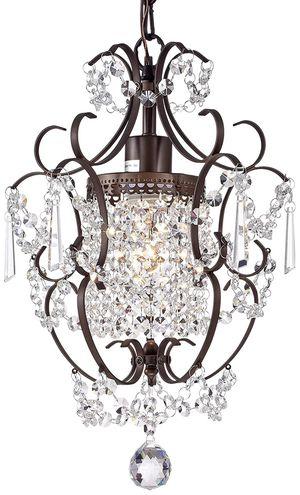 Crystal Chandelier Lighting Bronze Chandeliers 1 Light Iron Ceiling Light Fixture for Sale in Frostproof, FL