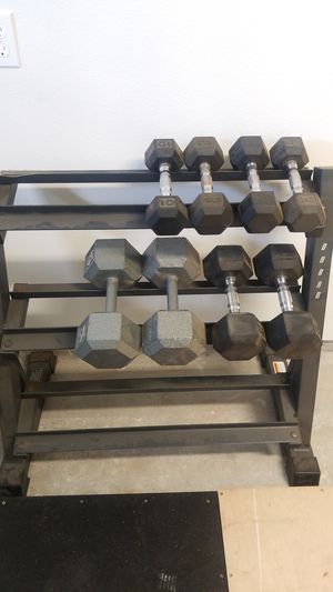 Dumbbells and stand for Sale in Glendora, CA