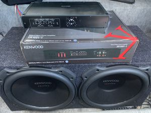 Subwoofers and amp for Sale in Pompano Beach, FL