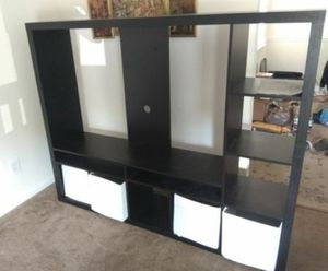 Black brown expedit tv stand for Sale in Nashville, TN