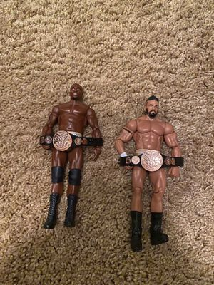 Prime time players Darren young and Titus O'Neil action figures for Sale in St. Petersburg, FL