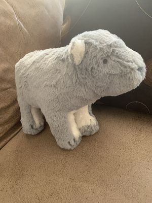 Small grey and white polar bear stuffed animal (like new) for Sale in Escondido, CA