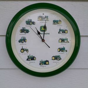 John Deere Vintage Wall Clock Tractor Sounds for Sale in Auburn, WA