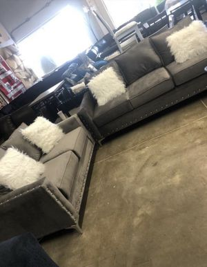 Living room sofa loveseat Furniture empire $39 down paymentOpen 7 days a week 9:30-8pm Finance available 1486 West Buckingham Rd. garland TX 75042 for Sale in Garland, TX