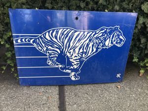 Large Exxon Tiger Metal Pump Plate for Sale in Seattle, WA