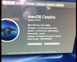 MacBook Pro 2008 iMac with Mac OS Catalina runs very fast for Sale in Federal Way, WA