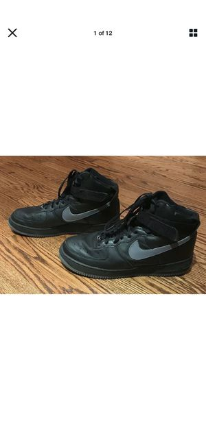 Rare Nike Air Force 1 High Sneakers Shoes 2002 Black Grey 624038-002 Men's Sz 12 for Sale in Los Angeles, CA